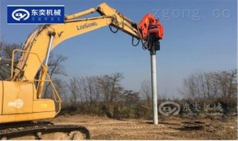 桩工机械打桩机 挖掘机振动打桩锤