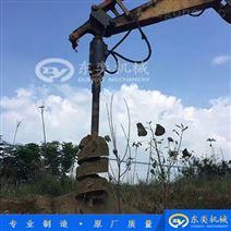 工程液压钻机 挖掘机螺旋钻孔机