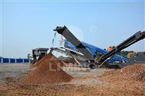 建筑垃圾移動站 移動碎石制沙生產線